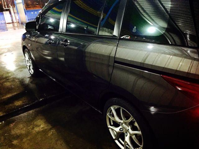 ALL IN ONE結晶鍍膜的洗車照-夜間也能亮晶晶