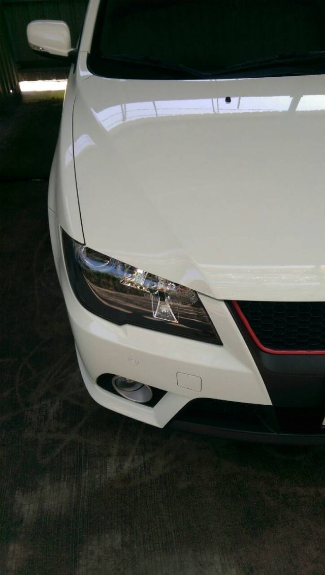 ALL IN ONE結晶鍍膜的洗車照-大燈保險桿乾淨的很
