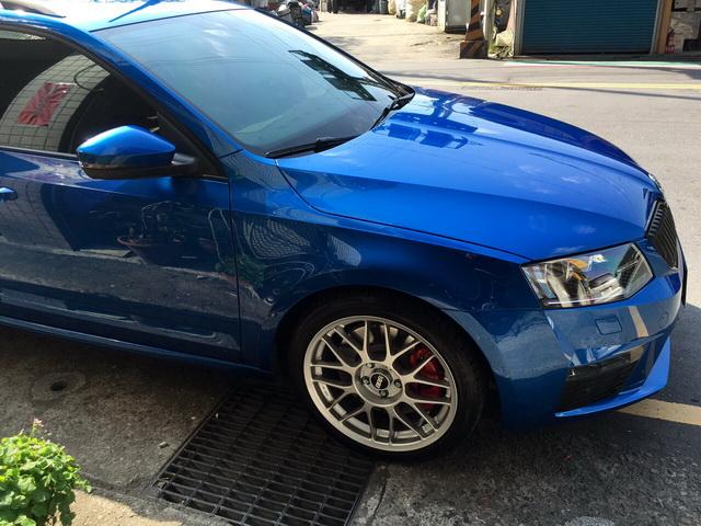 藍色車主用M+蠟產品的效果