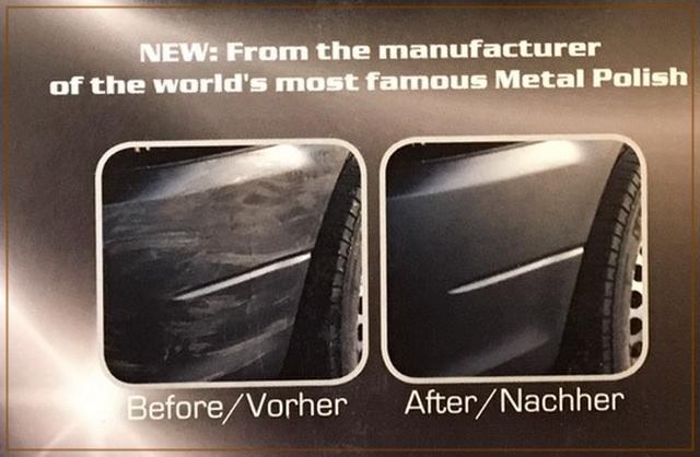 德國原裝進口AUTOSOL塑料清潔和保養套件的使用後差異性